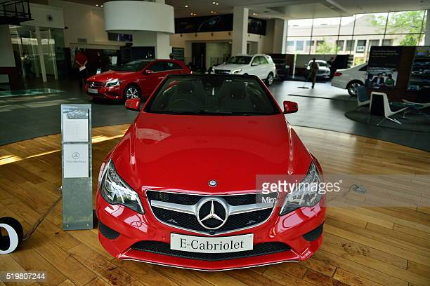 An ECarbiolet car showcased at Mercedes showroom at Mathura Road on June 2 2015 in New Delhi India