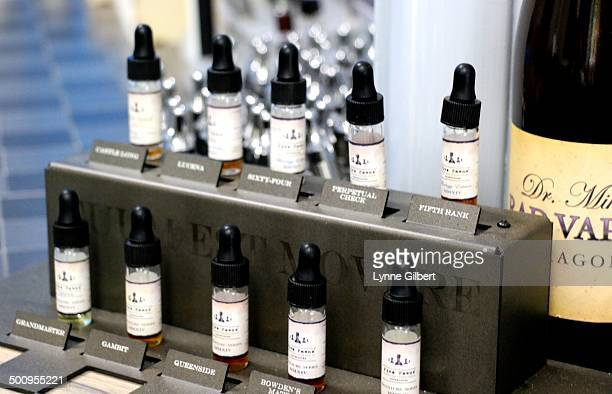An ecigarette store in Simi Valley CA called Cloud 10 displays various types of electric cigarettes juice for sale Sales are Booming at this store