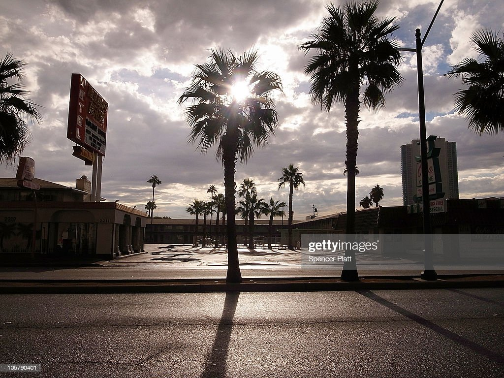 An economically depressed section of Las Vegas Boulevard is viewed on October 20, 2010 in Las Vegas, Nevada. Nevada once had among the lowest unemployment rates in the United States at 3.8 percent but has since fallen on difficult times. Las Vegas, the gaming capital of America, has been especially hard hit with unemployment currently at 14.7 percent and the highest foreclosure rate in the nation. Among the sparkling hotels and casinos downtown are dozens of dormant construction projects and hotels offering rock bottom rates. As the rest of the country slowly begins to see some economic progress, Las Vegas is still in the midst of the economic downturn.
