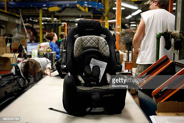 An Eddie Bauer Brand Child Car Seat Is Manufactured At The Dorel Juvenile Group Factory In