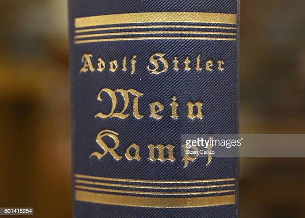 An edition of Adolf Hitler's Mein Kampf stands at the library of the Deutsches Historisches Museum on December 15 2015 in Berlin Germany The state of...