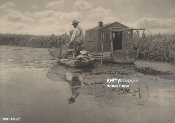 An Eel-Catcher's Home, 1886. Artist Dr Peter Henry Emerson. .