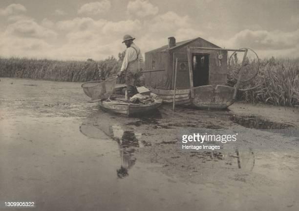 An Eel-Catcher's Home, 1886. Artist Dr Peter Henry Emerson. .