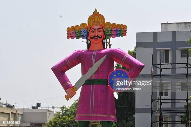 An Effigy Of Ravana Erected At Tilak Nagar During Dussehra Celebrations On October 10 2016 In