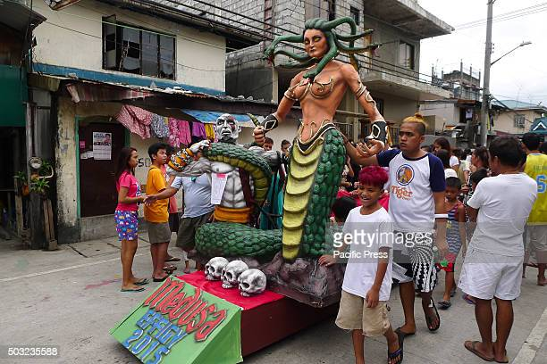 An effigy of the Greek goddess Medusa was being paraded on the streets