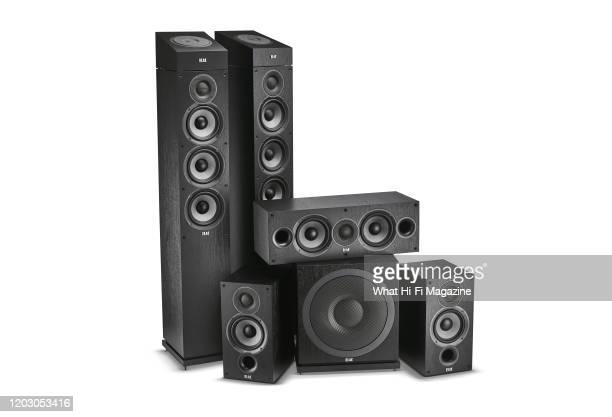An Elac Debut 20 51 home theatre speaker system including a pair of floorstanding Elac Debut 20 F52 speakers Elac Debut 20 B52 surround speakers a...