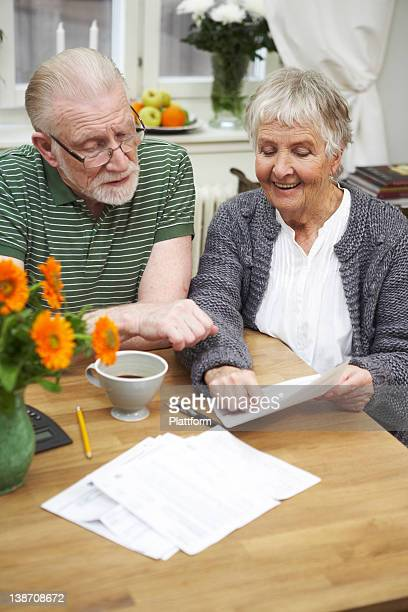 An elderly couple at home, Sweden.