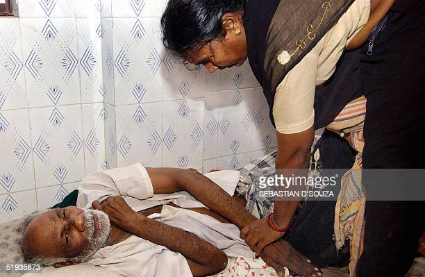 An elderly Indian survivor of the quaketriggered tidal waves which hit the country on 26 December S Vellu a 55yearold blind arthritis patient...