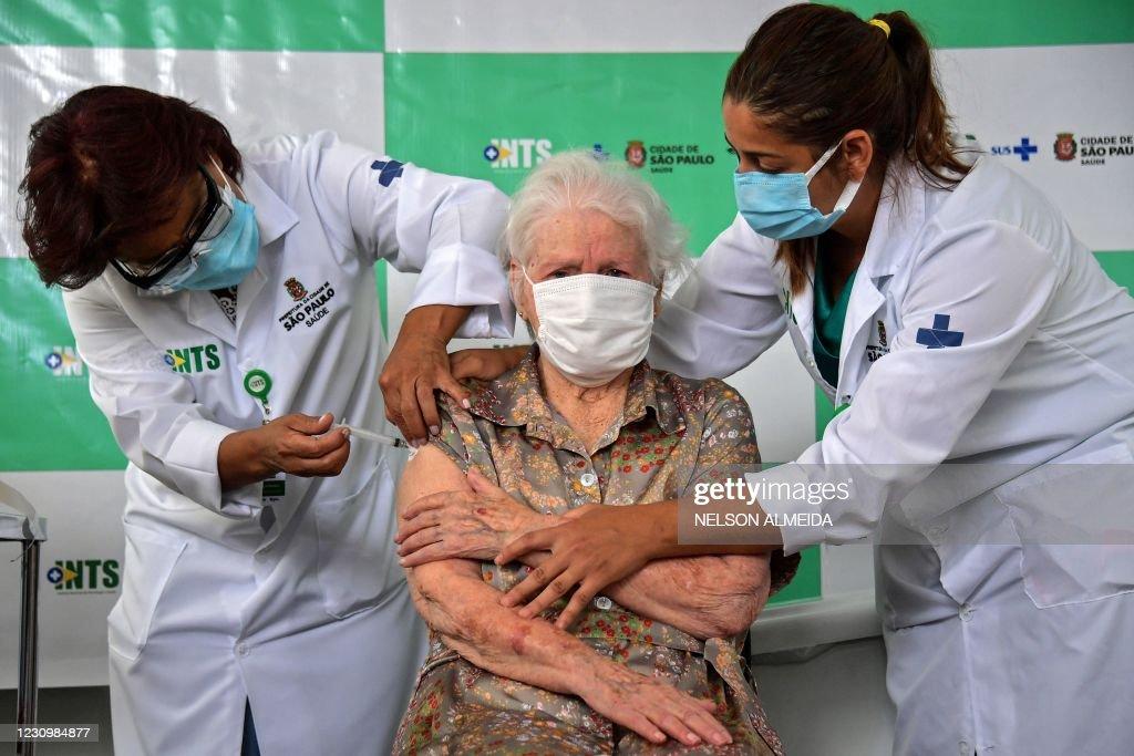 BRAZIL-HEALTH-VIRUS-VACCINE : Nieuwsfoto's