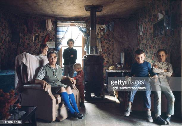 An elderly woman with her family at home Pike County Kentucky US 1967
