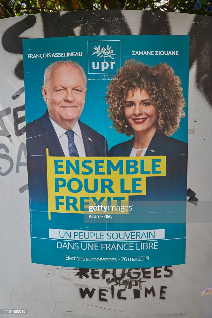 FRA: Election Posters Cover Paris Ahead Of Sunday's EU Vote