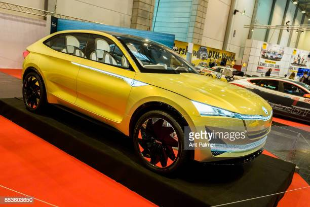 An electric concept car from Volkswagen owned manufacturer Skoda is displayed at the Essen Motor Show on December 1 2017 in Essen Germany The Essen...