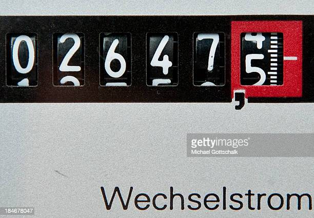 An electric meter counts energy consumption on October 15 2013 in Berlin Germany The German government plans to increase fees for green electricity...