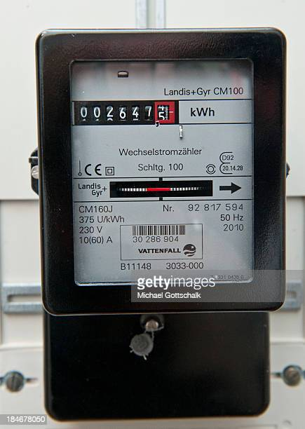 An electric meter counts energy consumption on October 15 2013 in Berlin Germany German government plans to rise fee for green electricity in 2014 up...