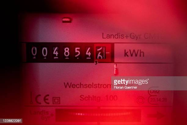An electric meter is pictured on October 01, 2020 in Berlin, Germany.