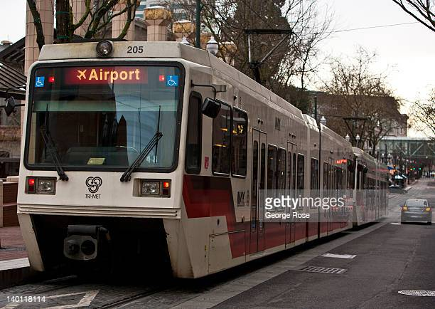 An electric transit train departs Pioneer Square for the airport on February 11 in Portland Oregon Portland has embraced its national reputation as a...