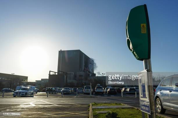 An electric vehicle charging station outside Hartlepool Nuclear Power Station in Hartlepool, U.K, on Tuesday, Dec. 15, 2020. U.K. Prime Minister...