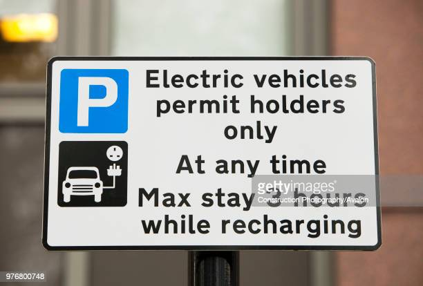 An electric vehicle recharging Juice Point in Westminster London UK