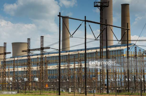 An electrical substation at the Komati coal-fired power station, operated by Eskom Holdings SOC Ltd., in Mpumalanga, South Africa, on Tuesday, Jan....