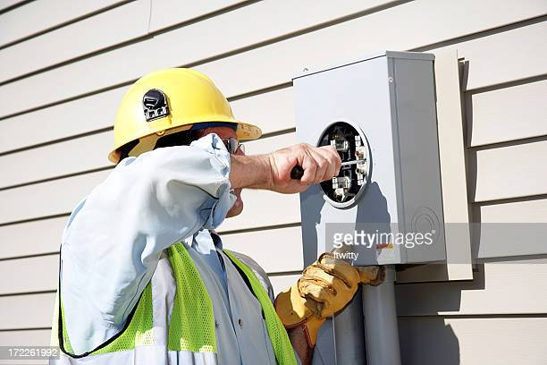 An electrician professional doing repairs