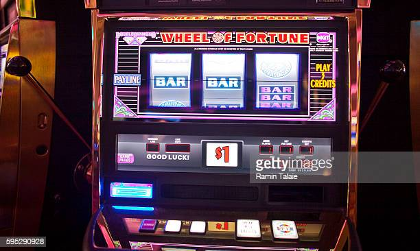 An electronic slot machine inside of Genting's new Resorts World New York casino at Aqueduct Race Track in Jamaica section of Queens in New York on...