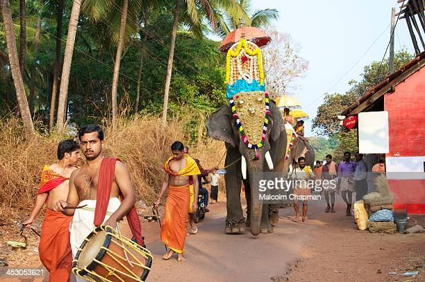 CONTENT] An Elephant procession during a hindu temple festival Adikadalayi Kannur Kerala India on FEBRUARY 6 2012 There are many festivals in Kerala...