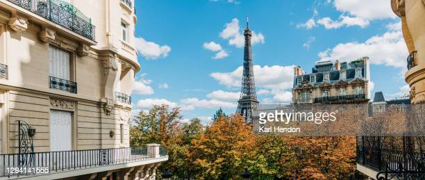 an elevated daytime view of the paris skyline - stock photo - paris france stock pictures, royalty-free photos & images