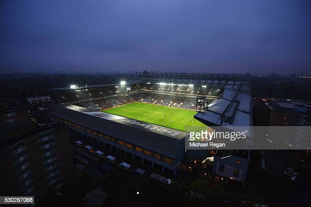 An elevated general view of the stadium during the Barclays Premier League match between West Ham United and Manchester United at the Boleyn Ground...
