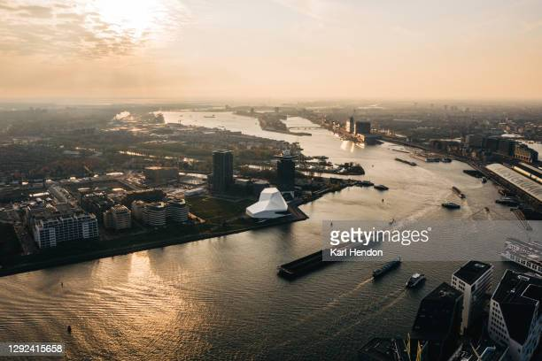 an elevated view of amsterdam - stock photo - amsterdam stock pictures, royalty-free photos & images