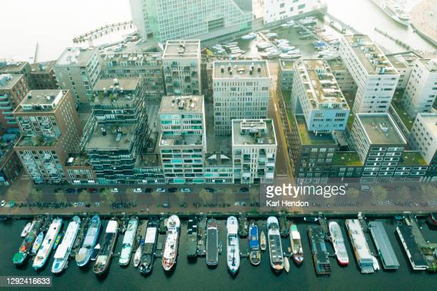 an elevated view of amsterdam - stock photo - travelstock44 stock pictures, royalty-free photos & images