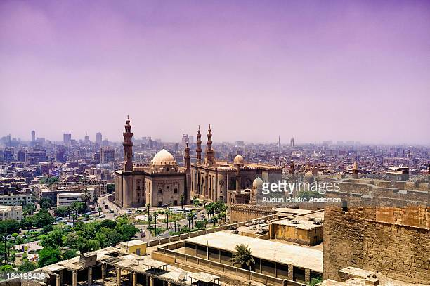 an elevated view of the city of cairo, egypt - cairo stock pictures, royalty-free photos & images