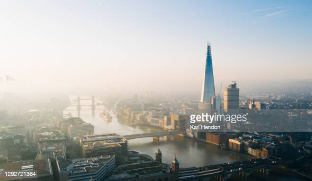 an elevated view of the london skyline - stock photo - history stock pictures, royalty-free photos & images