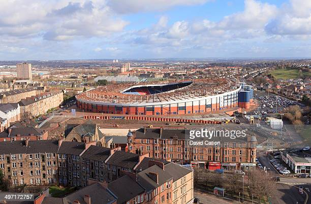 An elevated view over the south side of Glasgow towards the national stadium Hampden Park.