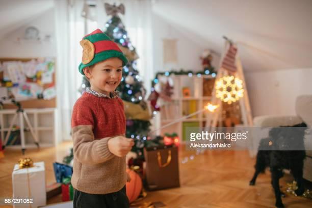 An Elf and his little helper