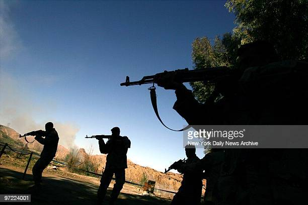 An elite squad of Iraqi Army soldiers is trained by US Army soldiers at a base in Diyala province north of Baghdad Iraq The Iraqi Army operating in...