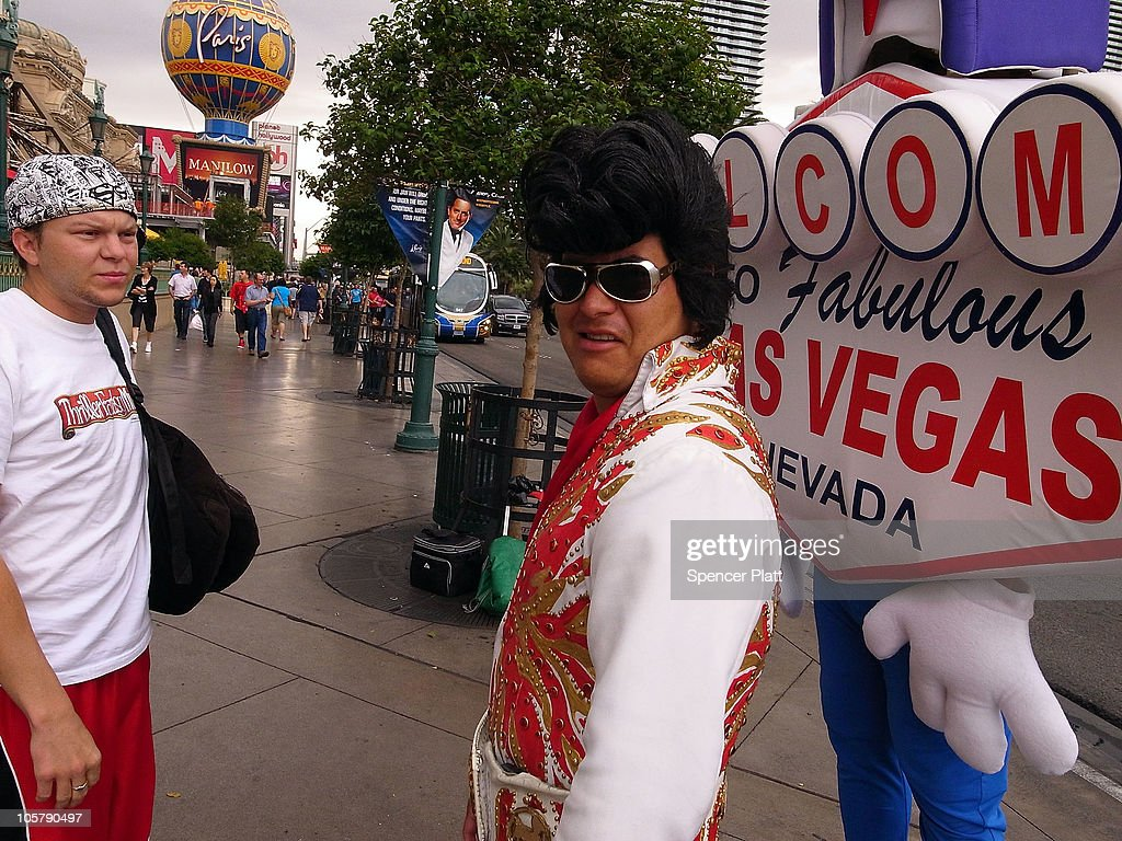 An Elvis impersonator stands along Las Vegas Boulevard on October 20, 2010 in Las Vegas, Nevada. Nevada once had among the lowest unemployment rates in the United States at 3.8 percent but has since fallen on difficult times. Las Vegas, the gaming capital of America, has been especially hard hit with unemployment currently at 14.7 percent and the highest foreclosure rate in the nation. Among the sparkling hotels and casinos downtown are dozens of dormant construction projects and hotels offering rock bottom rates. As the rest of the country slowly begins to see some economic progress, Las Vegas is still in the midst of the economic downturn.