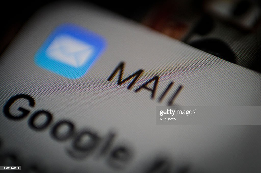 An email message notification is seen on an iPhone lock