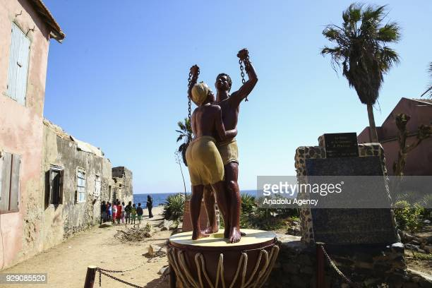An Emancipation statue is seen at the Goree Island known as 'Island of Shame' due to its bad reputation in consequence of being a center of Atlantic...
