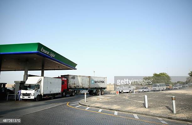 An Emarat petrol station is pictured on September 6 in Dubai United Arab Emirates Motorists will have to pay on average more than 20 percent more for...