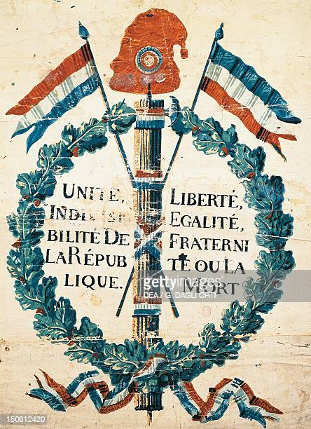 An emblem of the Republic from 1793 gouache French Revolution France 18th century