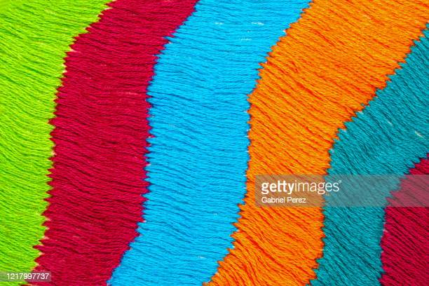 an embroidered cloth from puebla, mexico - embroidery stock pictures, royalty-free photos & images