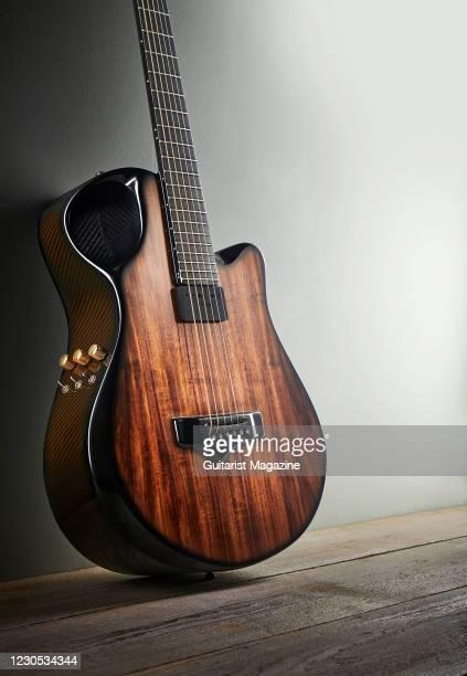 An Emerald X10 Artisan Woody electro-acoustic guitar, taken on January 16, 2020.