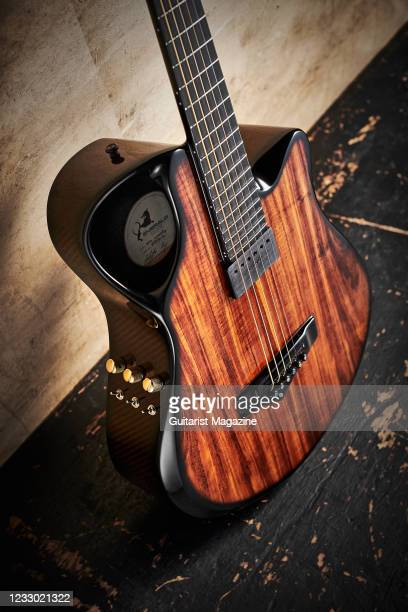 An Emerald X10 Artisan Woody electro-acoustic, taken on March 12, 2020.