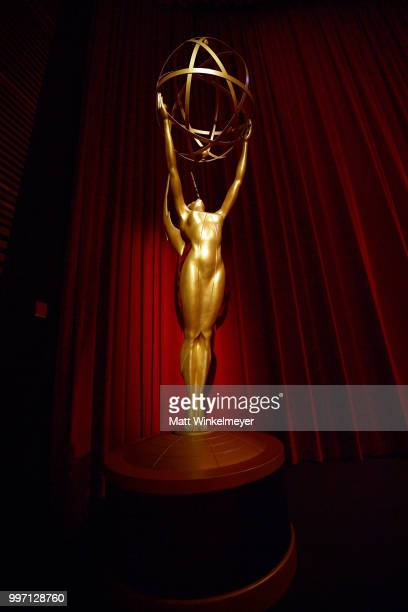 An Emmy Award statue is seen during the 70th Emmy Awards Nominations Announcement at Saban Media Center on July 12 2018 in North Hollywood California