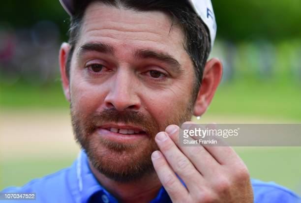 An emotional Louis Oosthuizen of South Africa after winning the South African Open at Randpark Golf Club on December 9 2018 in Johannesburg South...