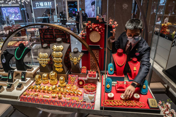CHN: Inside A Luk Fook Jewelry Store in Hong Kong