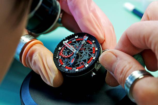 59e642303cb An employee assembles a Hublot SA King Power UEFA EURO 2012 Poland edition  wristwatch movement at
