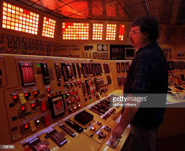 An employee at the Davis Bessie nuclear plant tests reactor control systems December 20 1999 in Port Clinton OH An acid leak inside the plant ate a...