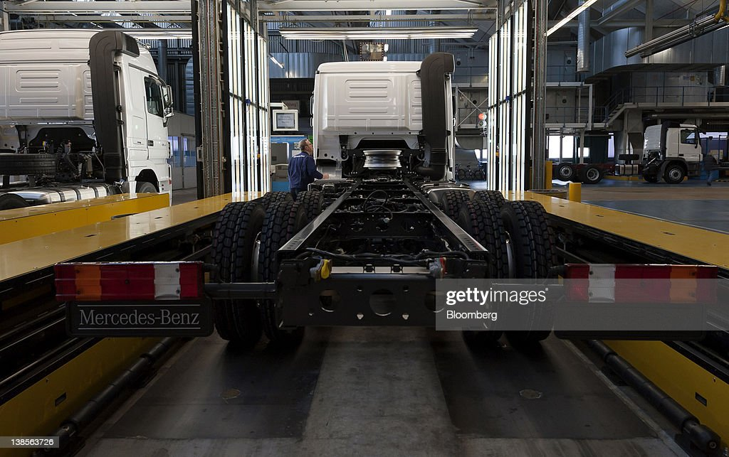 Production At Daimler AG's Mercedes-Benz Truck Factory : News Photo