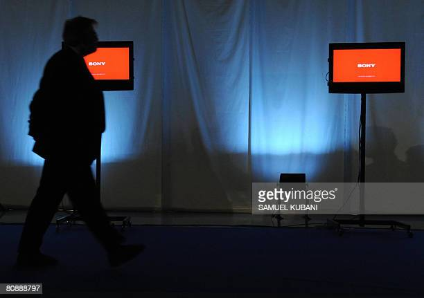 An employee controls TV screens during the opening ceremony of a Sony LCD Television factory in Nitra 95km from Bratislava on April 28 2008 AFP...